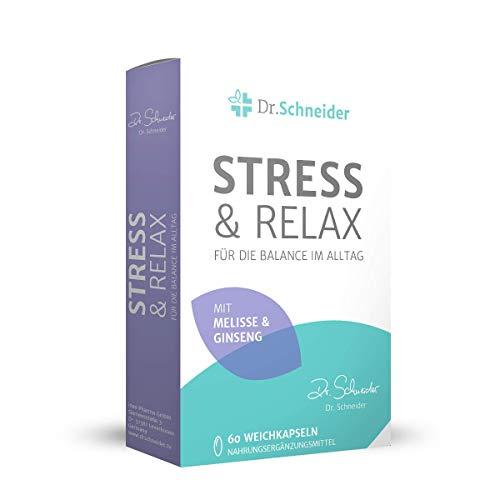 Dr. Schneider Stress & Relax - vitamine C, B2, B6, B12, Niacine, ijzer, pantothenzuur - ginseng, melisse, tijm - +energie, vermoeidheid & + immuunsysteem - bekend van de tv - geproduceerd in Duitsland