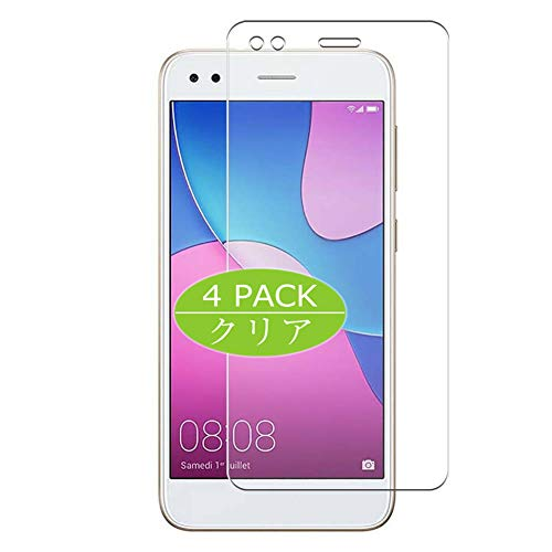 VacFun 4 Piezas HD Claro Protector de Pantalla Compatible con Huawei Enjoy 7 Enjoy7 / Y6 Pro 2017 / P9 Lite Mini, Screen Protector Sin Burbujas Película Protectora (Not Cristal Templado) New Version