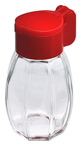 homiez Salzstreuer aus Glas mit Klappdeckel aus Kunststoff, optimal als Camping Salzstreuer, farblich Sortiert, 1 Stück