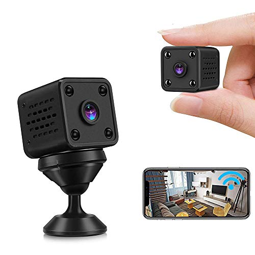 Mini Camera Nanny Cam WiFi Wireless Camera, with Audio and Video Infrared Micro IR Night Vision, Built-in Battery, with Magnetic Suction, Wide Angle, APP Operation