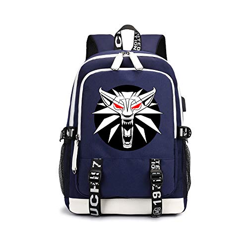 Supernatural Leisure Printed Daypack Trend Pattern Design Schoolbag Waterproof Backpack for Boys and Girls Kids (Color : A02, Size : 30 X 15 X 43cm)