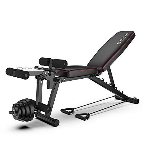 LLSS Banco de Musculación,Banco Musculación Ajustable Multifuncional,Banco de Pesas Doméstico Equipo de Ejercicios para Entrenamiento de Fitness