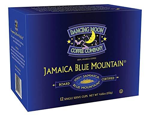 Dancing Moon 100% Board Certified Genuine Jamaica Blue Mountain K-Cups for Keurig Brewers (12-CT)
