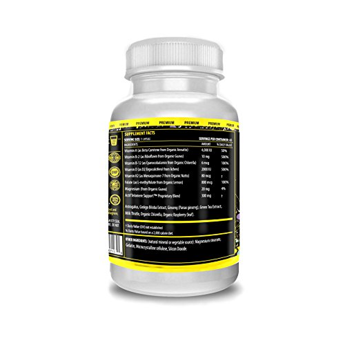 415OOfVZWlL. SL500  - Actif Telomere Mega Support with 10+ Factors, Non-GMO, for Energy, Memory and Anti-Aging Support, Made in USA, 60 Count