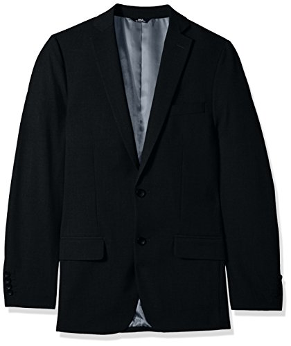 J.M. Haggar 4-Way Stretch Solid 2-Button Slim Fit Suit Separate Coat,  Black,  38L