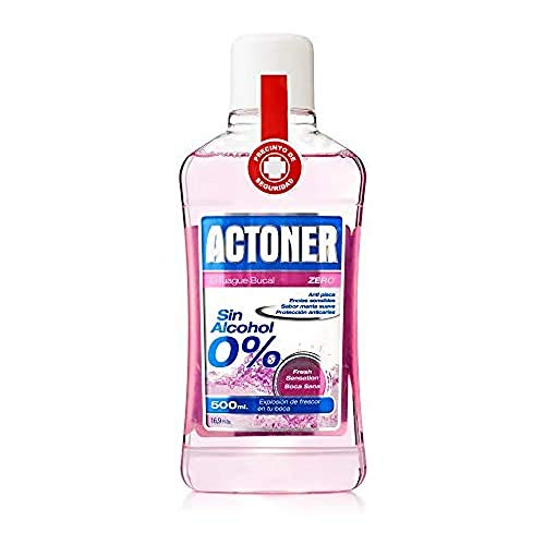Actoner, Enjuague Bucal Sin Alcohol, Encías Sensibles, 500 ml, 1