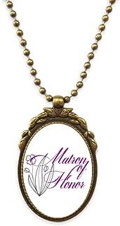 Respect Ladies Flower Lines Antique Necklace Vintage Bead Pendant Keychain