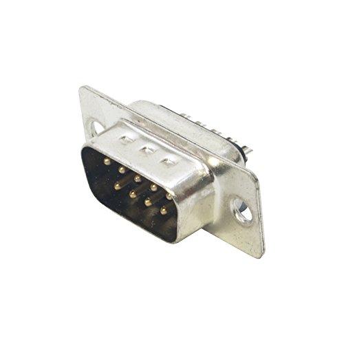 Standaard dichtheid, bewerkte 9 pins 'D SUB' connector. Hoge kwaliteit mannelijke soldeer Type pinnen