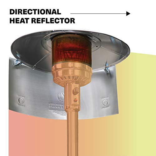 SWEET HEAT - Heat Focusing Reflector for Round Natural Gas and Propane Patio Heaters
