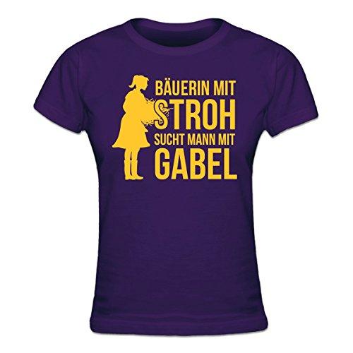 Shirtcity Bäuerin mit Stroh sucht Mann mit Gabel Frauen T-Shirt by