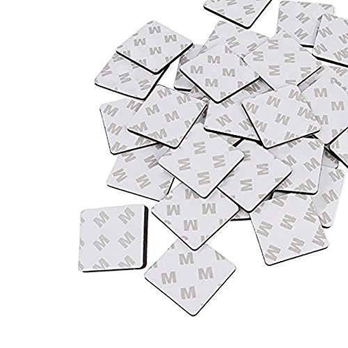 Inicio Almohadillas Adhesivas de Doble Cara 50pcs 3M Almohadillas de Espuma Adhesiva Doble Cinta de Montaje Fuerte Cinta Adhesiva