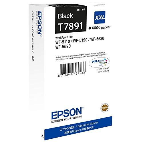 Epson C13T789140 - Tóner para Impresoras Láser Extra Alto Rendimiento, 4000 Páginas, Color Negro, Ya Disponible en Amazon Dash Replenishment