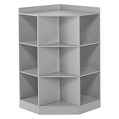 RiverRidge Kids 02-144 6-Cubby, 3-Shelf Corner Cabinet - White