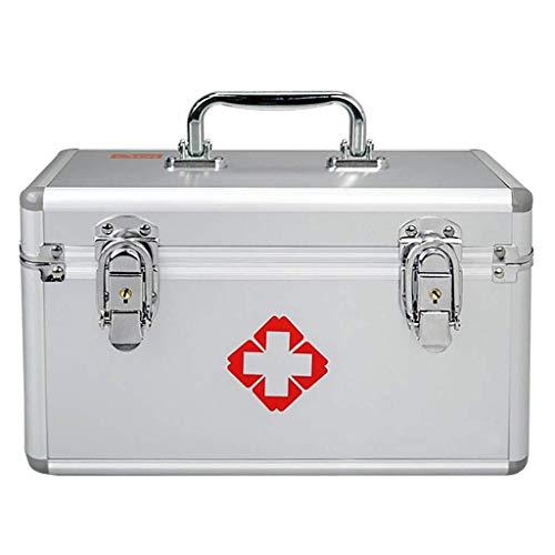 GOXJNG Medizin Box Set Startseite Medizin Aufbewahrungsbehälter-Behälter Tragbare Erste-Hilfe-Kit Fall Abschließbare Prescription Schrank for Home Reise Arbeitsplatz (Size : 14inch)