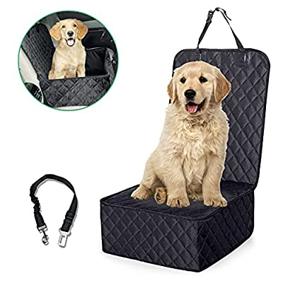 Front Seat Cover for Dogs,Dog Front Seat Cover for Cars 2-in-1 Dual Use?Pet Seat Cover,Pet Front Cover for Cars?Car Seat Cover for Pets 100%Waterproof Scratchproof and Washable