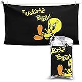 N / A Tweety Bird Schal Handtuch Towel Schnelltrocknende Handt¨¹Cher Leichtes Und Schnell Trocknendes Badetuch Reisetuch