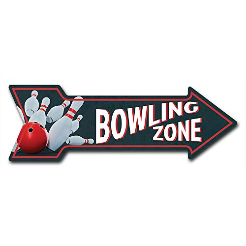 """SignMission Decal Art Bowling Zone Decal Indoor/Outdoor Decor 24"""" Directional Sticker Vinyl Wall Decals"""