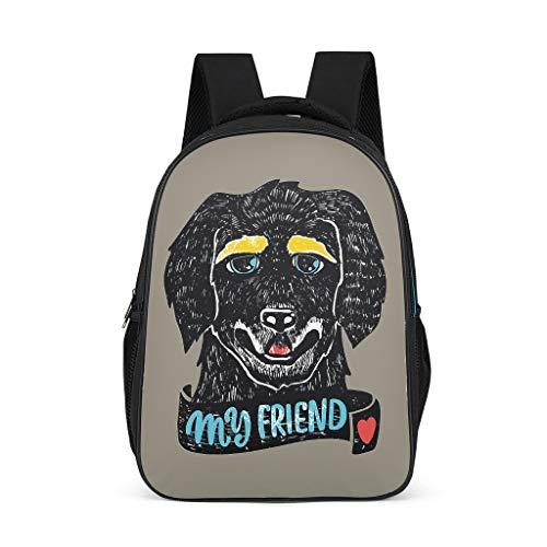 Lind8 Rucksack für Hunde, groß, für Schüler, Klassenzimmer, Bücher, Bergsteigen, für Mädchen und Jungen Einheitsgröße grey11