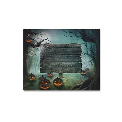 JOCHUAN Wandkunst Malerei Halloween Design Wald Kürbisse Horror Drucke Auf Leinwand Das Bild Landschaft Bilder Öl Für Zuhause Moderne Dekoration Druck Dekor Für Wohnzimmer