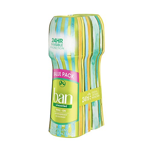 Ban Roll-On Antiperspirant Deodorant, Unscented, 3.5 Ounce (Pack of 2) $4.29 @Amazon FSSS or prime