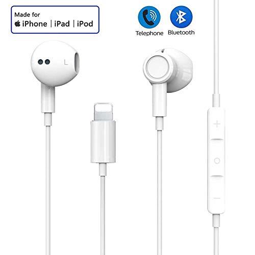 Auriculares para iPhone 7 Auriculares Conector Par emergente Auriculares Aislamiento Auriculares Soporte Control de Volumen de Llamadas Compatible con iPhone 7/7 Plus/8/8 Plus/X/XS MAX/XR para iOS 12