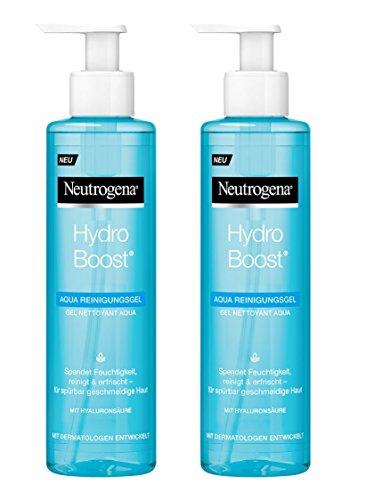 Neutrogena Hydro Boost Aqua Reinigungsgel, feuchtigkeitsspendendes Waschgel mit Hyaluronsäure und Glycerin (2 x 200 ml)