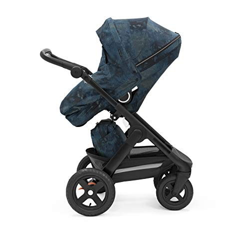 STOKKE® TrailzTM Stroller – Passeggino multifunzione adatto a terreni con seduta ergonomica e ruote in terracotta – Colore: Black Terrain Freedom Limited Edition