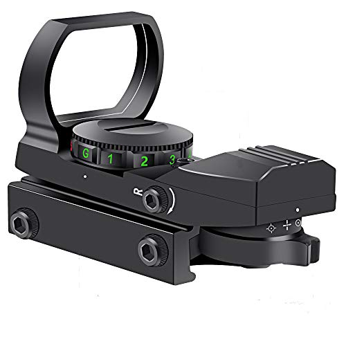 Reflex Sight Red Dot Sights, Adjustable Reticle Red Green Dot Sight Micro Rifle Scope, 22x33mm