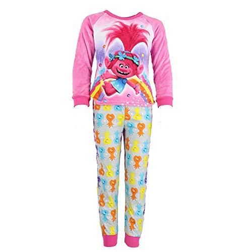 Trolls Movie Rainbow Pink Fleece Pajamas for Big Girls (10)