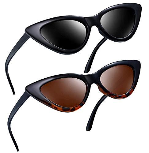 Joopin Gafas de Sol Ojo de Gato Polarizadas Protección UV Retro Vintage Gafas de Cateye Para Mujer