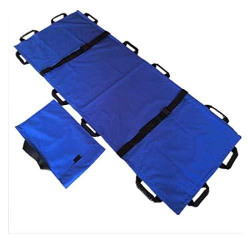 Camilla Ascensor ancianos Escaleras de transferencia de la ayuda de la correa de la correa, Cuidado Discapacidad Material suave camilla, Hospital de Urgencias de rescate para, Clínica, azul, 180cm 70c