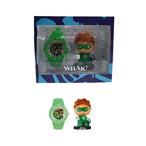 Unbekannt DC Comics–Little Mates–Uhr Grün für Jungen und Action Figure Laterne grün