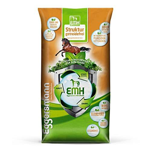 Eggersmann EMH Struktur Getreidefrei – Pferdefutter Getreidefrei mit Luzerne für Stoffwechselprobleme – 15 kg Sack