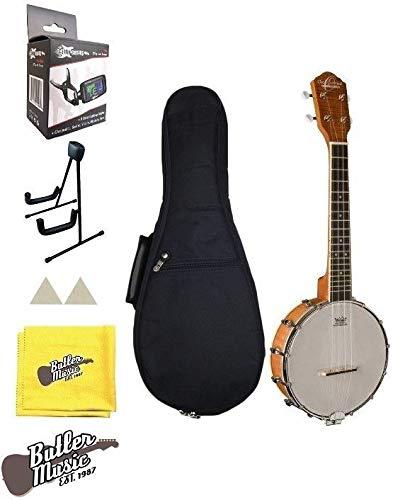 Oscar Schmidt Model OUB1 Concert Size Banjolele Banjo Uke w/Uke Stand and More