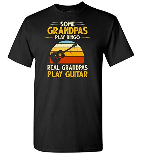 PINK BUTTERFLY Camiseta de guitarra con texto en inglés 'Some Grandpas Play Bingo Real Grandpas Play
