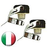 Euposia - Made in Italy - Set 2 Pezzi - Stopper Universale Vino & Champagne con BLOCKWAF System Fino a 6 ATM. - in Acciaio Cromato - Modello 1920 Color con Aletta Inox - (Nero)