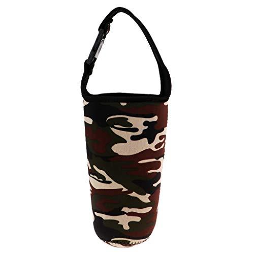 MagiDeal Sac de Rangement Tasse Porte-gobelet pour Voyages Camping - Camouflage, 26cm