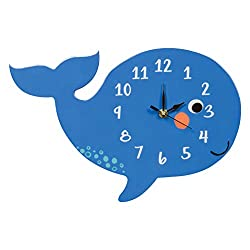 Trend Lab Wall Clock, Silent, Battery Operated, Whale