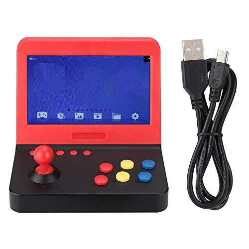 7 in mini-spelconsole dubbel spel, HD-videogameconsole LCD-scherm mini-spelmachine TV-uitgang met tuimelaar voor kinderen volwassenen, ondersteuning voor FC/GBA/GBC/PS, verliesloze muziek, enz