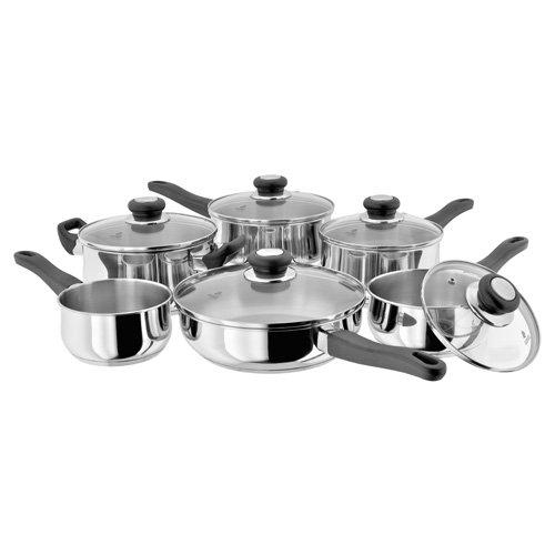Horwood Homewares Judge Vista Lot comprenant 3 casseroles 16/18/20 cm, une poêle 24 cm et un faitout 20 cm