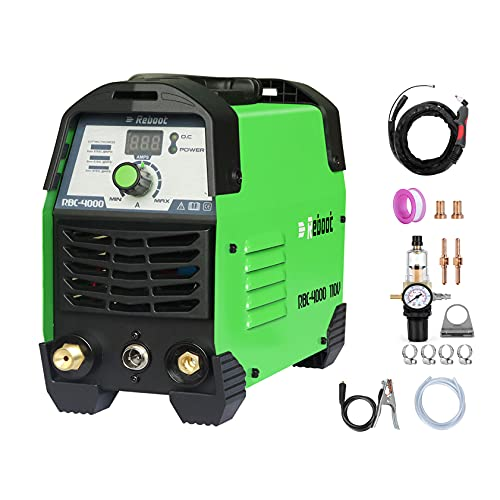 Plasma Cutter IGBT Inverter Portable 110V CUT40 Air Plasma Cutting Machine 2/5in Clean Cut High Frequency Inverter Duty Cycle for Stainless Mild Steel Copper Iron