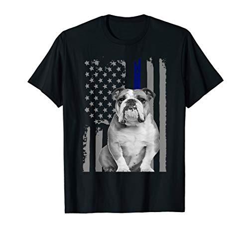 ENGLISH BULLDOG - FLAG American Thin Blue Line USA Flag Dog