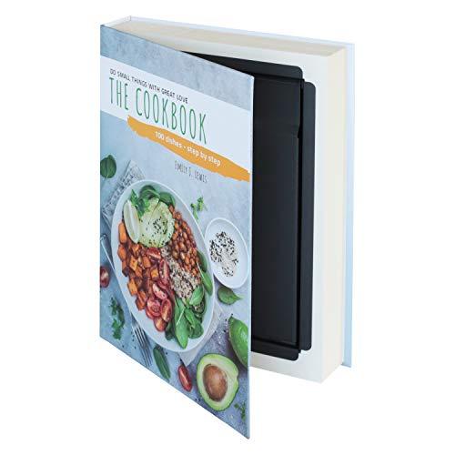 HMF 81001 Libro Portavalori, Cassetta portavalori, Vere Pagine,'Cookbook', 26,5 x 19 x 4,2 cm