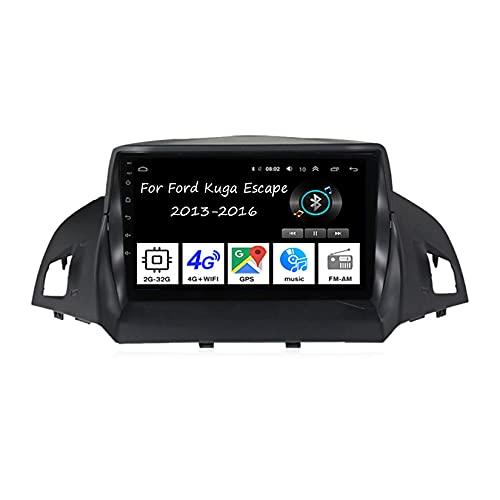 Autoradio Auto Stereo 9 Inch Touchscreen GPS Navigation Für Fürd Kuga Escape 2013-2016 Auto Zubeh?r Einfügen und verwenden Lenkradsteuerung Unterstützung DAB RDS SWC,4 Cores 2G+32G