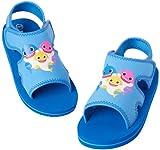 Nickelodeon Boys' Baby Shark Sandals – Adjustable Strap Summer Sports Sandals with Heel Strap (Toddler/Little Kid), Size 9/10, Baby Shark Blue