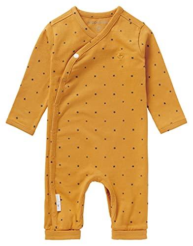 Noppies Baby Kinder Unisex Strampler Wickelmodell Bio-Baumwolle Body Ibiza Babystrampler (Honey Yellow, 56)