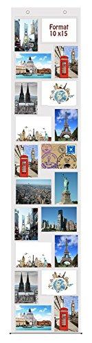 Trendfinding® Fotovorhang 10 x 15 cm mit 20 Taschen Hochformat und Querformat Foto Bilder Postkarten Format Fotowand Fotogalerie Fototaschen Fotohalter Taschenvorhang Fotos
