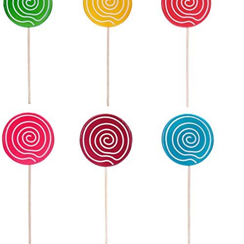 Holibanna Lollipop Photo Prop Adornos de Navidad Lollipop Set para Baby Shower Niño Niña Cumpleaños Tienda de Dulces Tema de Cumpleaños Decoraciones de Fondo (Púrpura)