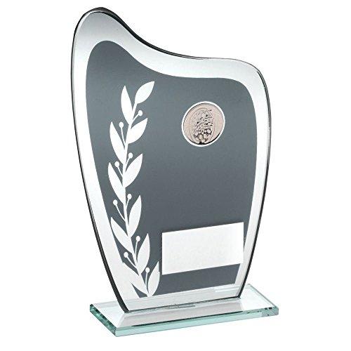 Gravur personalisierbar Hinton grau Glas Plaque Darts Trophy Kostenlose Gravur, , 165mm