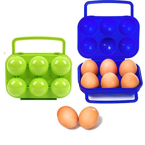 Nuluxi Plegable Caja de Huevos Envase Huevos Cajón Huevo Caja de Almacenamiento...